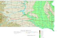 South Dakota Contour Map