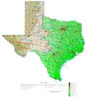 Texas Contour Map