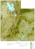 Utah Contour Map