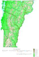 Vermont Contour Map