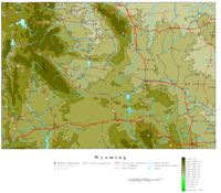 Wyoming Contour Map