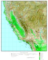 California Elevation Map