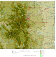 Elevation contour Map of CO State