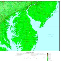 Delaware Elevation Map