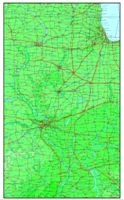 Elevation contour Map of IL State