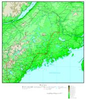 Maine Elevation Map