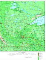 Minnesota Elevation Map