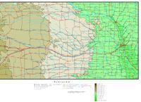 Nebraska Elevation Map