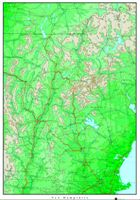 New Hampshire Elevation Map