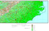 North Carolina Elevation Map