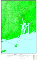 Elevation contour Map of RI State