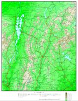 Elevation contour Map of VT State