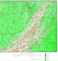 West Virginia Elevation Map