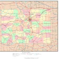 Colorado Political Map