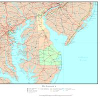 Delaware Political Map