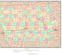 Iowa Political Map