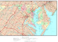 Political reference Map of MD State