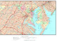 Maryland Political Map