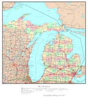 Michigan Political Map