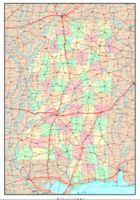 Mississippi Political Map
