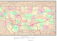 Montana Political Map