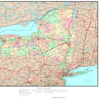 Political reference Map of NY State