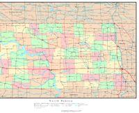 North Dakota Political Map