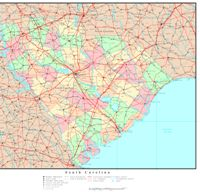 Political reference Map of SC State