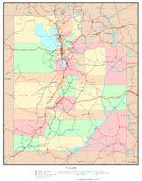 Utah Political Map