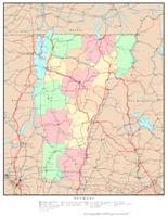 Vermont Printable Map - Vermont political map