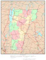 Vermont Political Map
