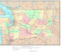 Washington Political Map