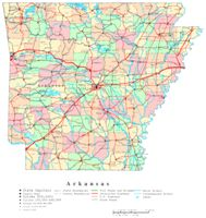 Arkansas Printable Map