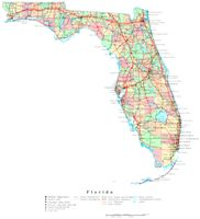 Florida Printable Map