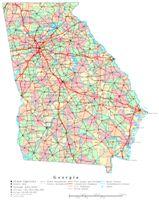 Printable color Map of GA State