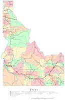 Idaho Printable Map