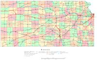Printable color Map of KS State