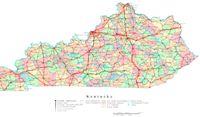 Kentucky Printable Map