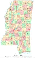 Printable color Map of MS State