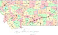 Montana Printable Map