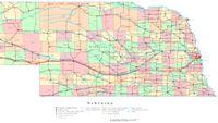 Nebraska Printable Map