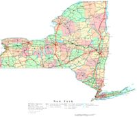 New York Printable Map