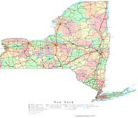 New York Printable Map