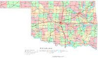 Printable color Map of OK State