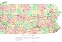 Printable color Map of PA State
