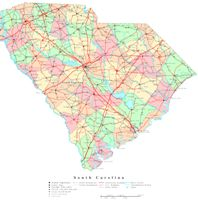 South Carolina Printable Map