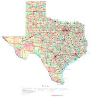 Texas Printable Map