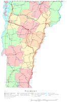 Vermont Printable Map