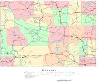 Wyoming Printable Map