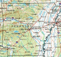 Reference geography Map of AR State
